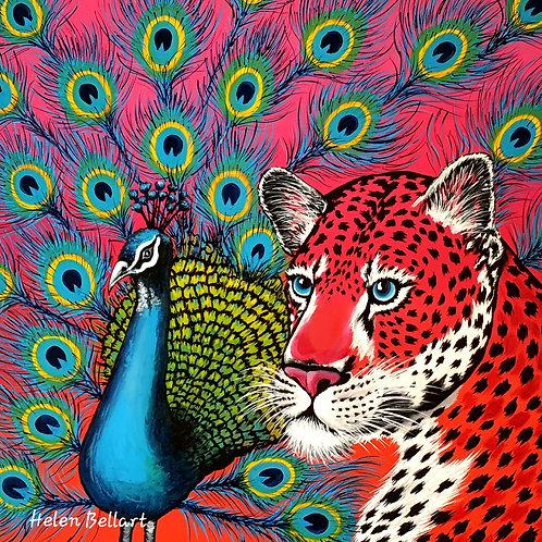 Peacock & Leopard artwork