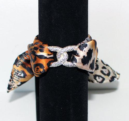 Jaguar Infinity silk bracelet