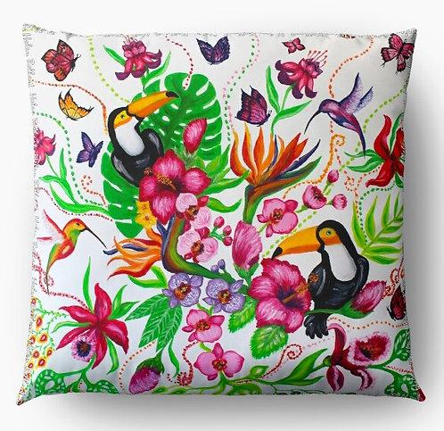 Tropical Garden decorative pillow cover