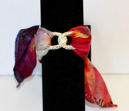 Blooming iris Infinity silk bracelet