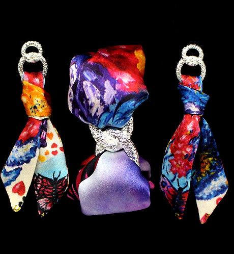 Fall in Love silk tie earring & bracelet