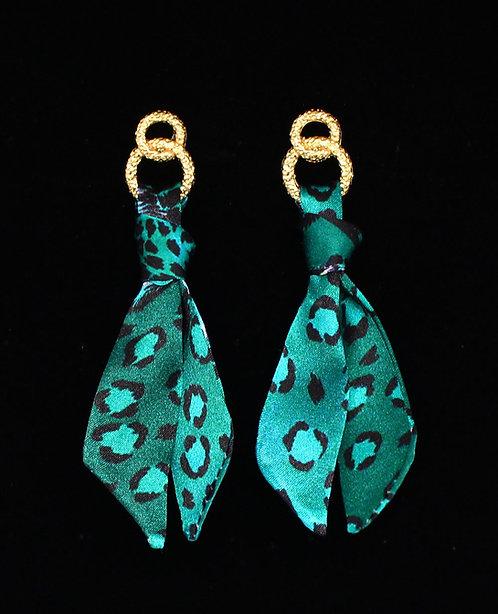 Esmeralda Leopard tie earring