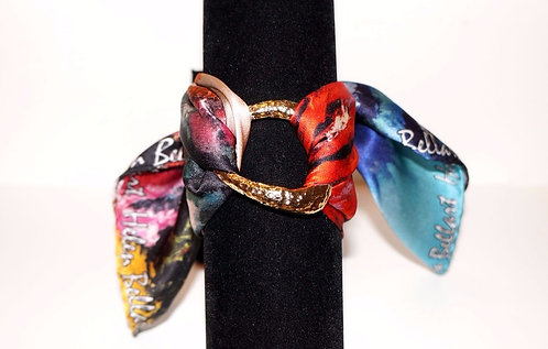 Colorful Corals silk bracelet