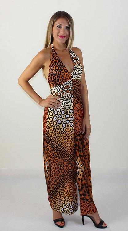 Jaguar long backless dress