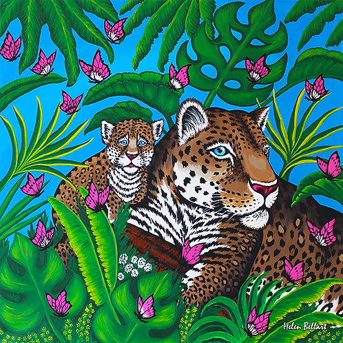 Baby & Mama Leopard artwork