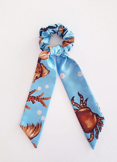 Sea Treasure bow scrunchie