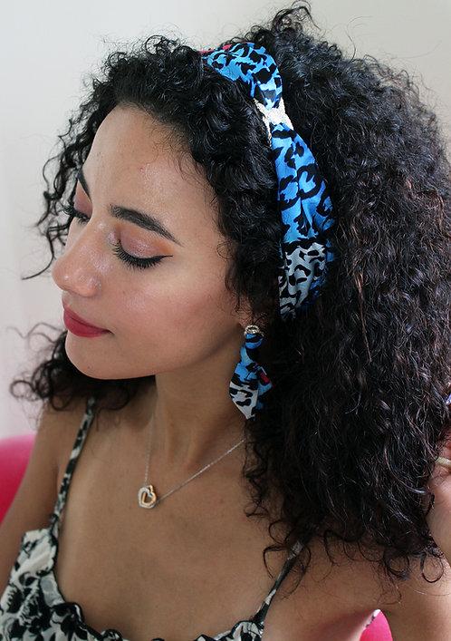 Blue Leopard Infinity Headband