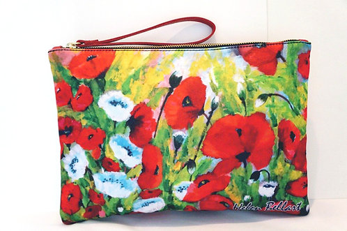 Poppies clutch bag