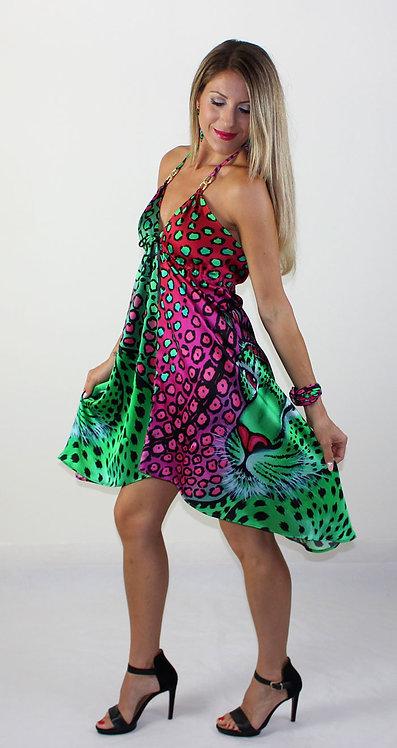 Exotic Leopard silk dress