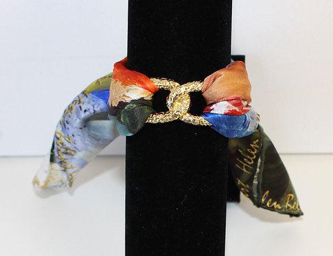Caribbean woman Infinity silk bracelet