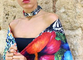 Silk CHOKER necklaces designed by Helen Bellart