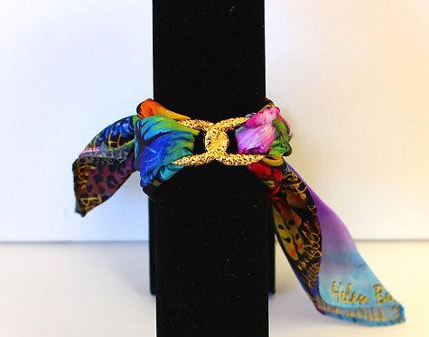 Butterfly Infinity silk bracelet