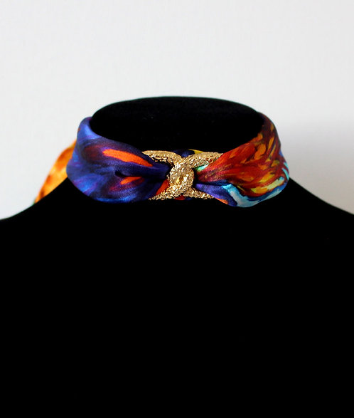 Blue Iris Choker Necklace