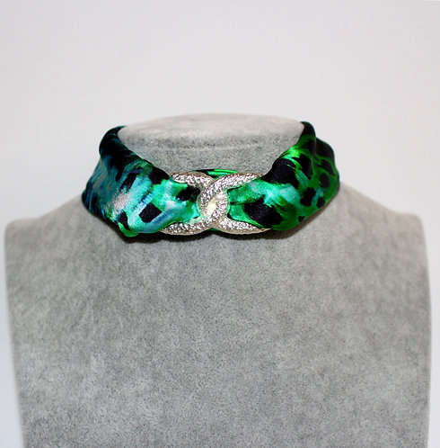Green Tiger Choker Necklace