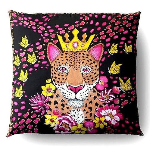Gold Leopard decorative pillow cover