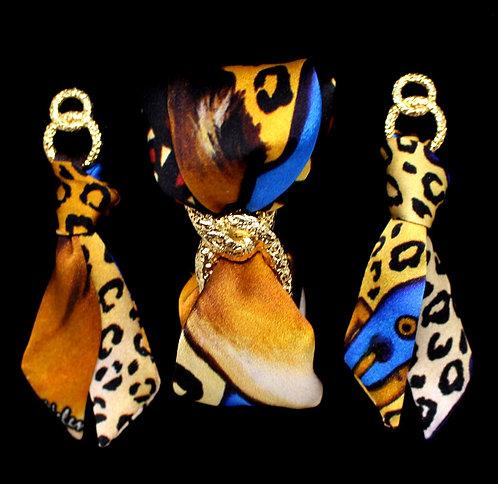 Leona silk tie earring & bracelet