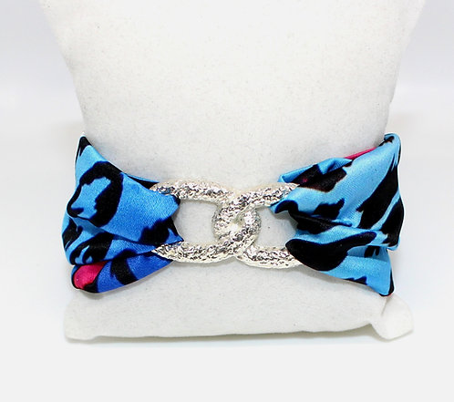 Blue Leopard Infinity bracelet