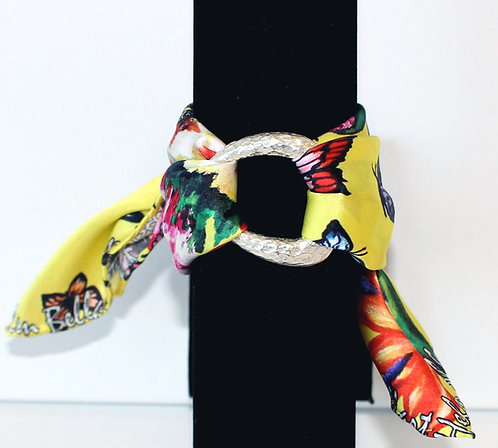 Butterfly Paradise silk bracelet