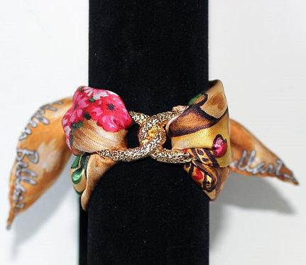 Lucky Cat Infinity silk bracelet