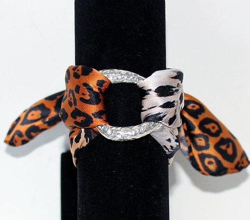 Jaguar silk bracelet