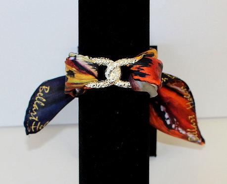 Venetian mask Infinity silk bracelet