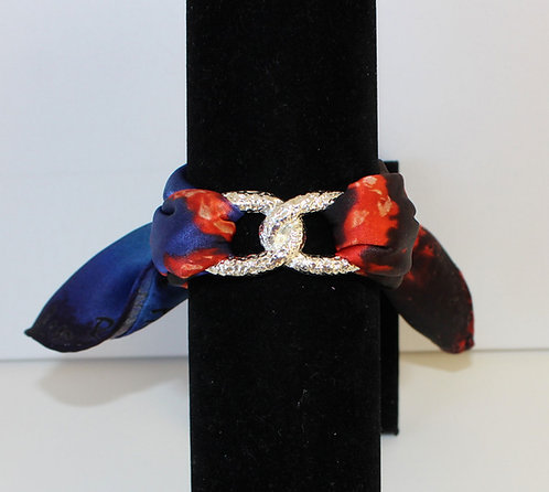 Coral Infinity silk bracelet