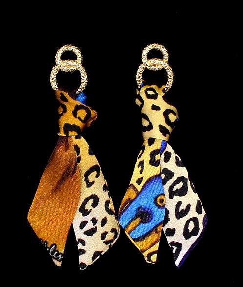 Leona silk tie earring