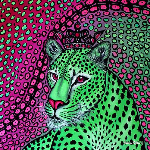 Exotic Leopard silk scarf 110x110 cm