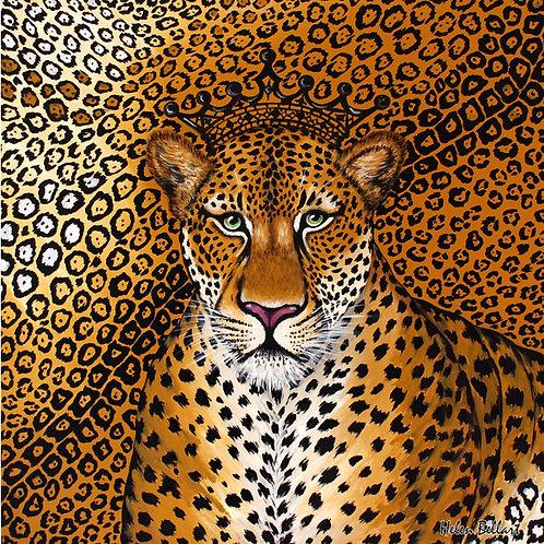 Jaguar silk scarf 110x110 cm