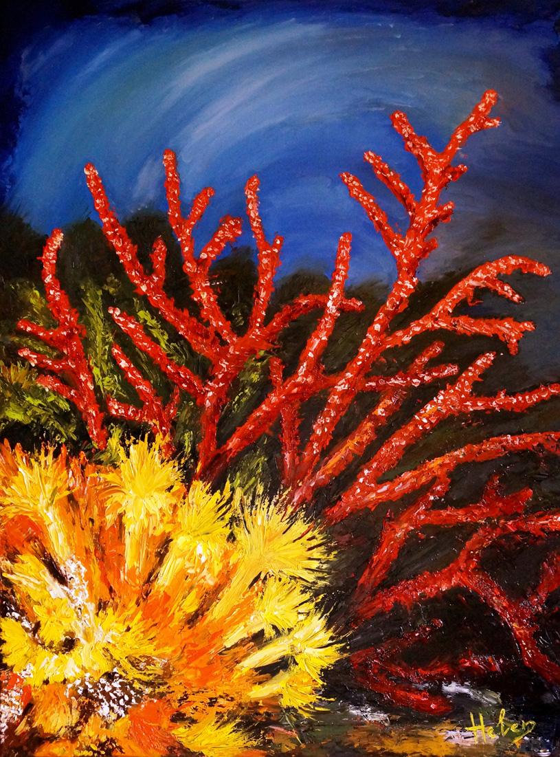 Coral, 81x65cm