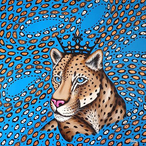 Leopard & Gold animal print artwork