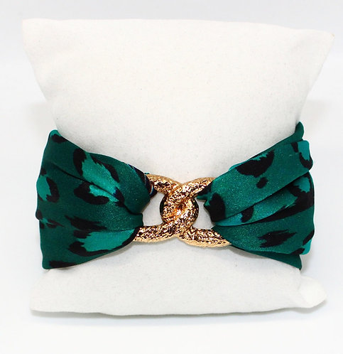 Esmeralda Leopard Infinity bracelet