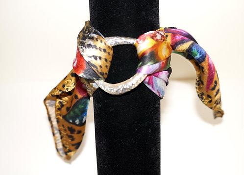 Leopard silk bracelet