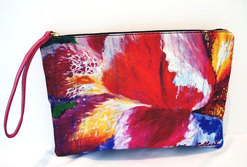 Blooming Iris clutch bag