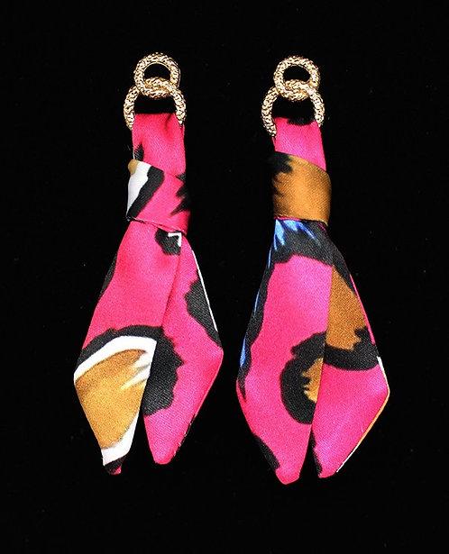 Candy Leopard tie earring