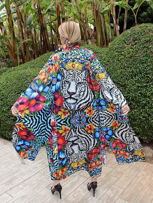 Tiger long kimono