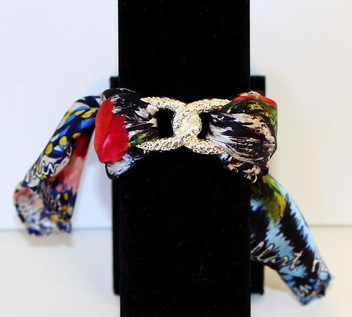 Tiger Infinity silk bracelet