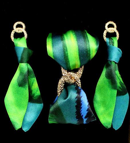 Jungle Leopard tie earring & bracelet