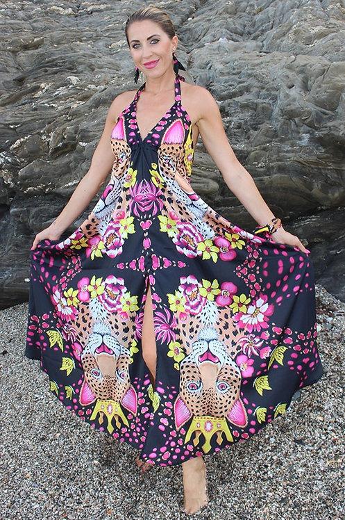 Gold Leopard long dress