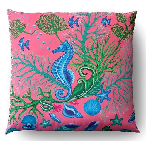 Seafloor decorative pillow cover