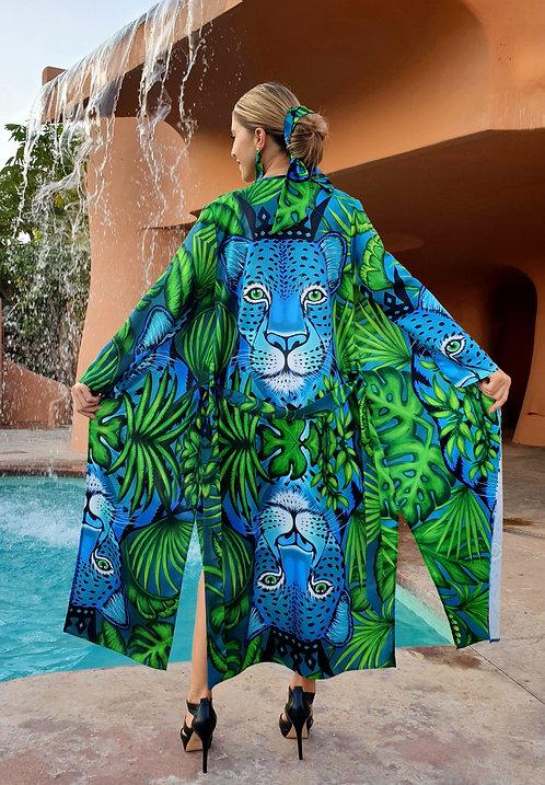 Jungle Leopard long kimono
