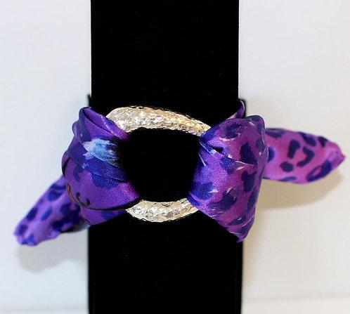 Purple Animal Print silk bracelet