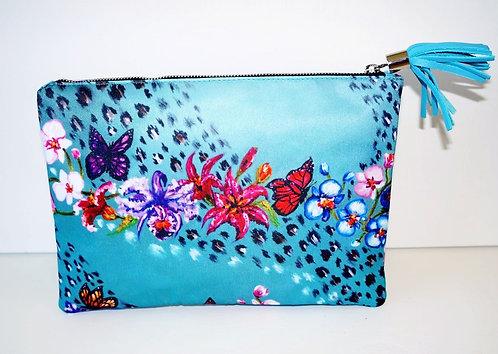 Blue Spring clutch bag