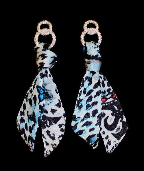 Savage silk tie earring