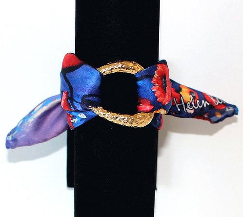 Poppy silk bracelet