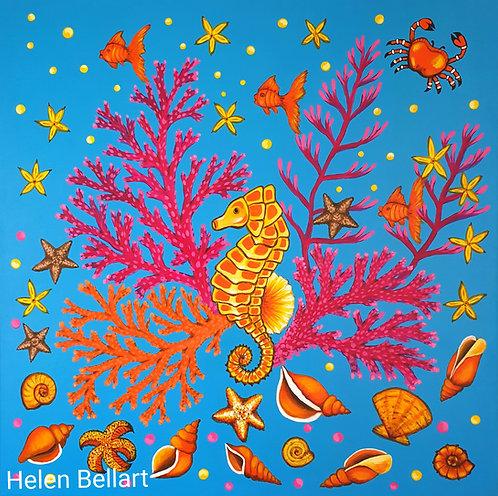 Yellow Seahorse artwork