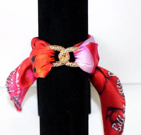 Lady Butterfly Infinity silk bracelet