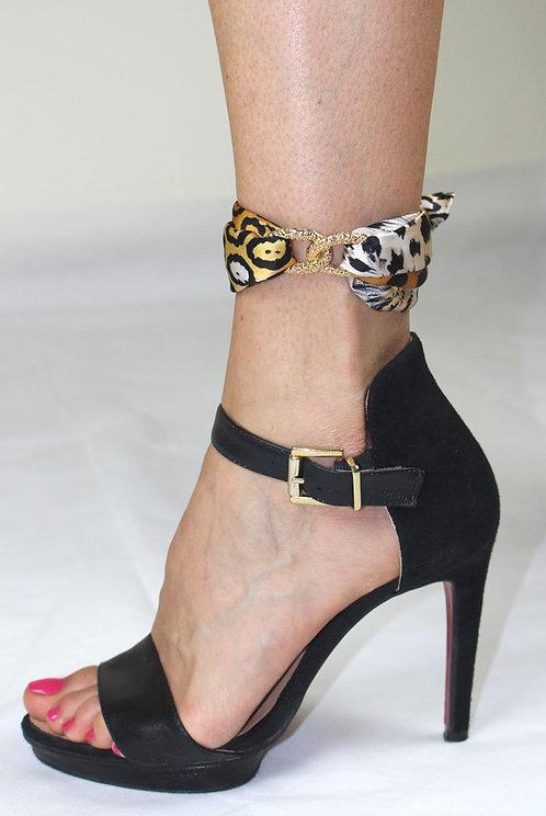 Jaguar ankle silk bracelet