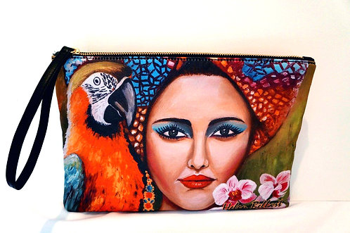 Tropical girl clutch bag