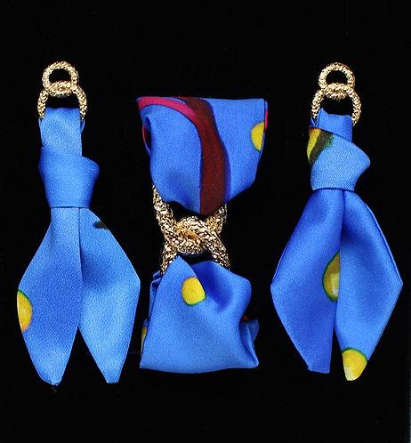 Yellow Seahorse tie earring & bracelet